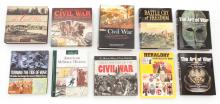 Lot of 10 Hardbound Books on the Civil War, etc.