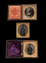 Lot of 3 Civil War Era Tintypes
