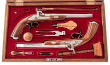 Cased Pair Replica Spanish Dueling Pistols