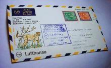 1969 LUFTHANSA DHARRAN TO FRANKFURT COVER
