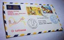 1971 LUFTHANSA CASABLANCA TO BUENOS AIRES COVER