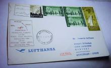 1963 LUFTHANSA CAIRO TO ATHENS COVER