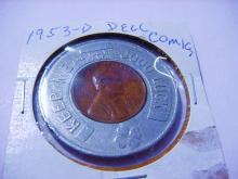 1953-D DELL COMICS ENCASED LINCOLN CENT