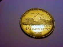 1942 USS SOUTH DAKOTA BATTLESHIP X MEDAL UNC