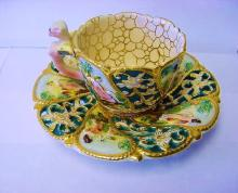 FANCY CAPODIMONTE CUP & SAUCER