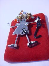 UNUSUAL MOVEABLE FIGURAL PIN