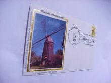1989 WINDMILLS OF LONG ISLAND SILK CACHET COVER