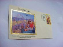 1988 CONEY ISLAND SILK CACHET COVER