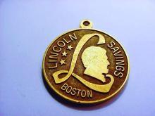 LINCOLN SAVINGS BANK BOSTON MEDAL