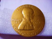 1928 LAURA FRASER LINDBERGH CONGRESSIONAL BRONZE MEDAL