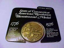 1976 CONNECTICUT BRONZE MEDAL UNC