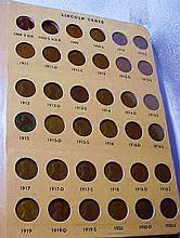 LINCOLN CENT COLLECTION MISSING 1909-S V.D.B., 1922 PLAIN, 1955 DOUBLE DIE