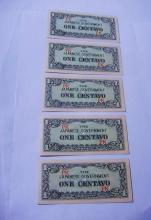 [5] WORLD WAR 2 JAPANESE BANKNOTES UNC