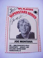 JOE MONTANA FOOTBALL CARD