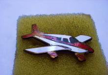 VINTAGE ENAMEL AIRPLANE PIN