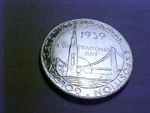 1939 GOLDEN GATE BRIDGE ALCOA MEDAL UNC
