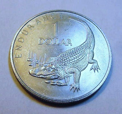 1976 GUYANA ONE DOLLAR  B.U.