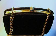 VINTAGE LORD & TAYLOR BLACK EVENING BAG