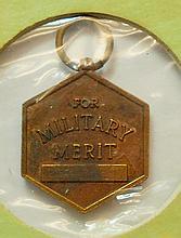 MILITARY MERIT MINIATURE MEDAL