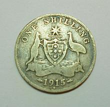 1915 M AUSTRALIA SHILLING