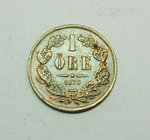 1873 SWEDEN 1 ORE