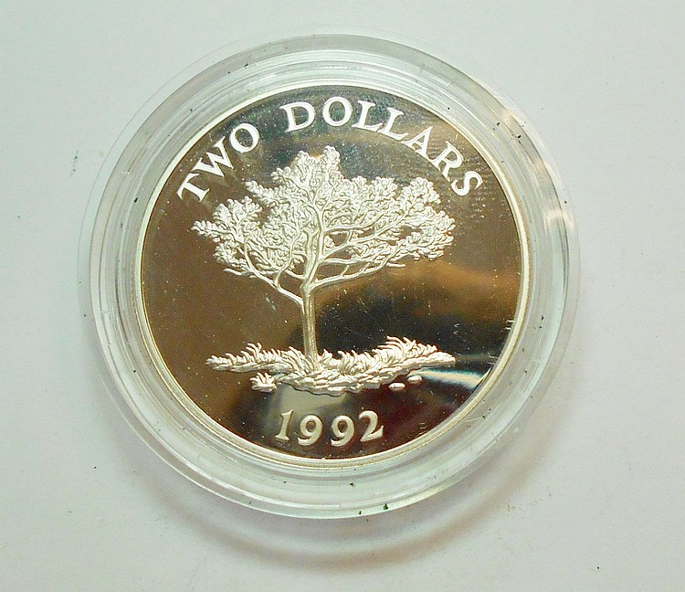 1992 BERMUDA 2 DOLLARS GEM PROOF