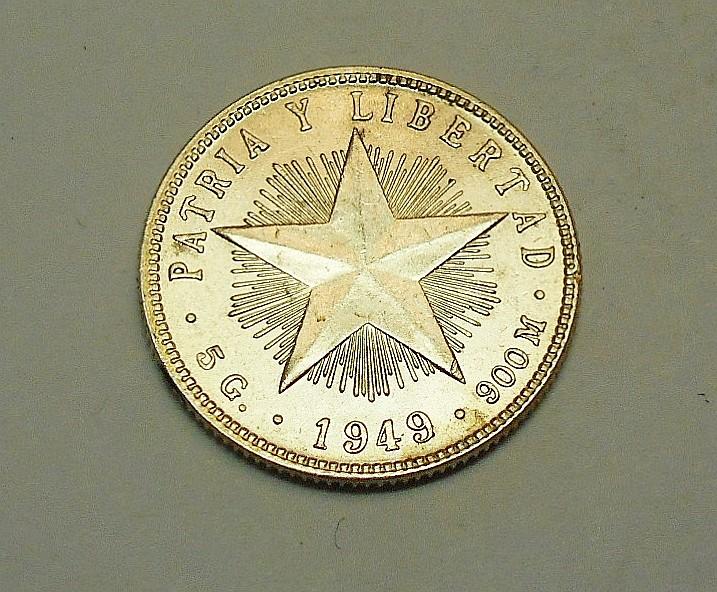 1949 CUBA 20 CENTAVOS