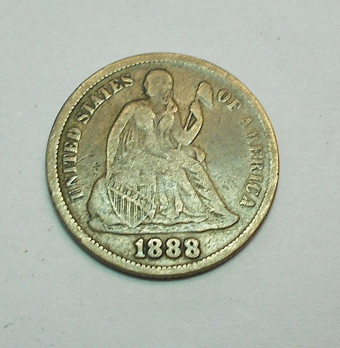 1888 SEATED DIME