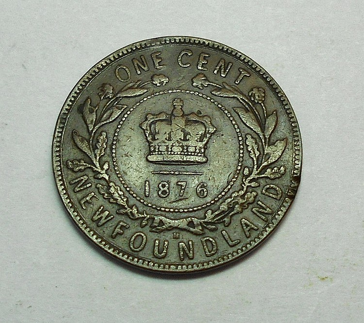 1876 NEWFOUNDLAND ONE CENT