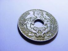 1925 FRENCH INDO-CHINA 5 CENTIMES