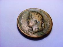 1839 FRENCH COLONIES 5 CENTIMES
