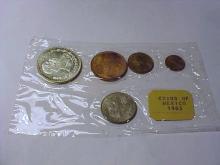 1965 MEXICO COIN SET GEM B.U.