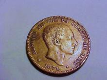 1879 SPAIN 10 CENTIMOS