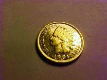 1901 GOLD PLATED INDIAN CENT