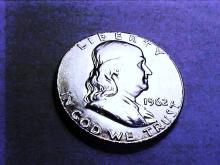 1962 FRANKLIN HALF DOLLAR GEM B.U.
