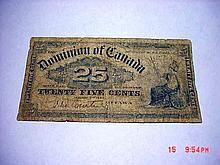 1900 DOMINION BANK OF CANADA 25 CENTS NOTE