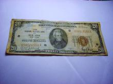 1929 NEW YORK NATIONAL CURRENCY BANKNOTE