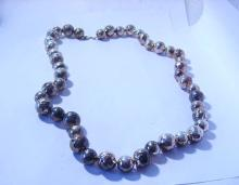 FANCY LARGE STERLING BEADS NECKLACE