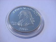 2000 PRESIDENT MADISON POLITICAL MEDAL