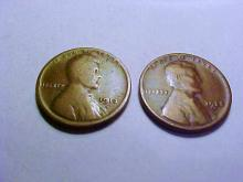 1913-D, 1925-S LINCOLN CENTS