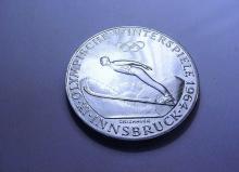 1964 AUSTRIA 50 SCHILLING OLYMPICS COIN GEM PROOF