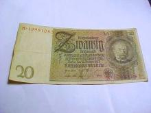 1929 GERMANY 20 REICHSMARK BANKNOTE