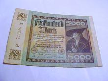 1922 GERMANY 5000 REICHSMARK BANKNOTE