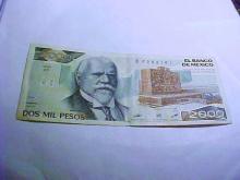 MEXICO 2000 PESOS BANKNOTE