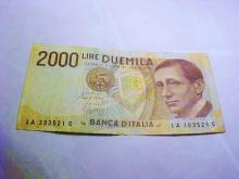 ITALY 2000 LIRE BANKNOTE