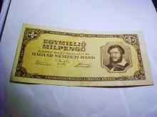1946 HUNGARY 1 MILLION PENGO BANKNOTE