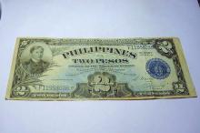 1945 VICTORY PHILIPINES $2.00 BANKNOTE
