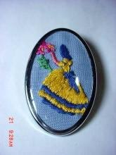 VINTAGE EMBROIDED PIN