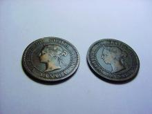 1887 & 1890 H CANADA LARGE CENTS