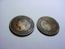1884 & 1886 CANADA LARGE CENTS